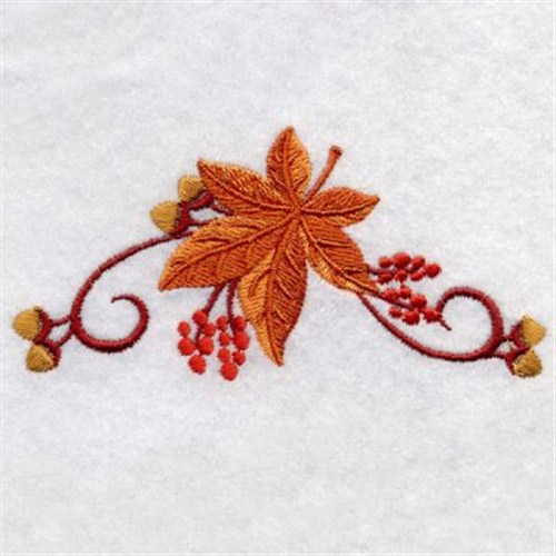Maple leaf border embroidery designs machine