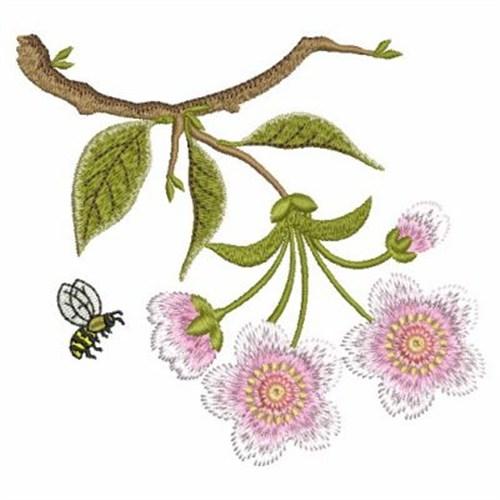 cherry blossom machine embroidery design