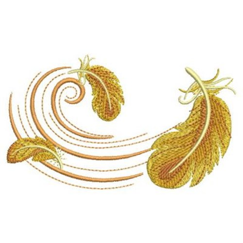 Fancy feathers embroidery designs machine