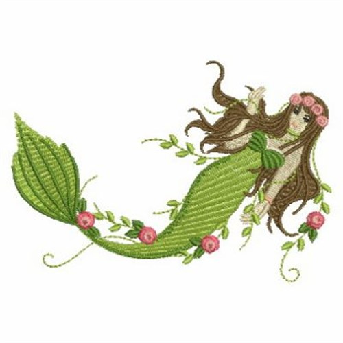Mermaid embroidery designs machine at
