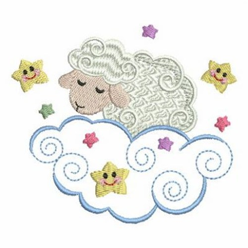 994827368ee3 Sleepy Sheep Embroidery Designs