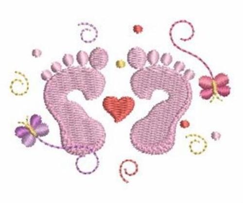 Newborn Feet Embroidery Designs Machine Embroidery Designs At EmbroideryDesigns.com