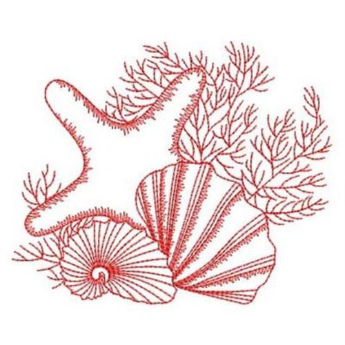 seashell machine embroidery designs