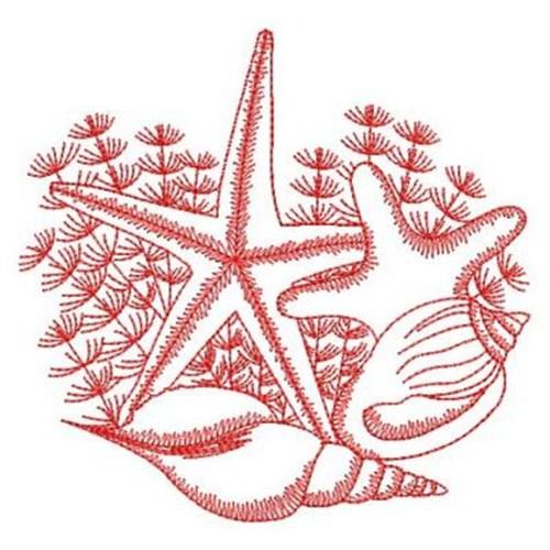 Seashell Embroidery Design