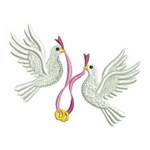 Wedding doves embroidery designs machine