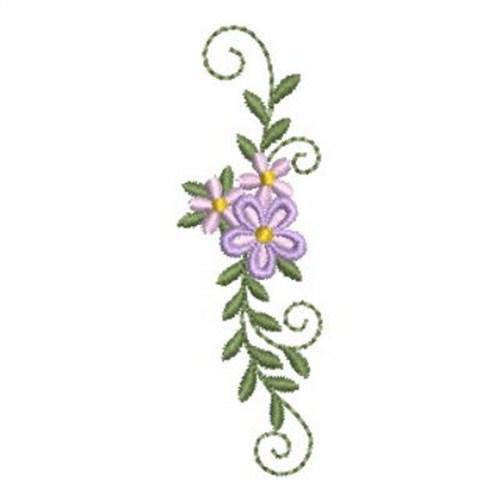 Heirloom flower border embroidery designs machine
