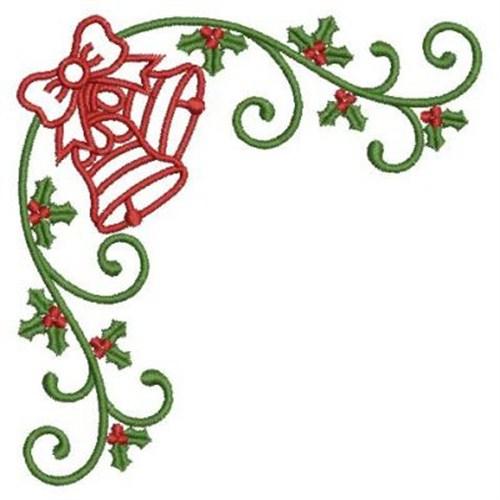 Christmas Designs.Christmas Corner Embroidery Design