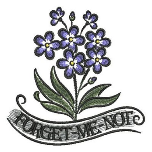 Forget Me Not Alaska Embroidery Designs Machine Embroidery Designs