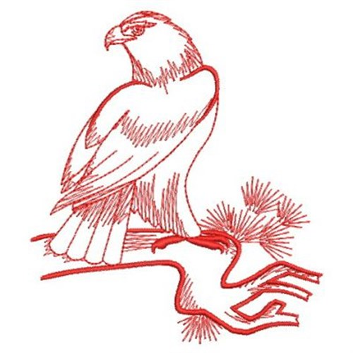 Redwork American Eagle Embroidery Designs Machine
