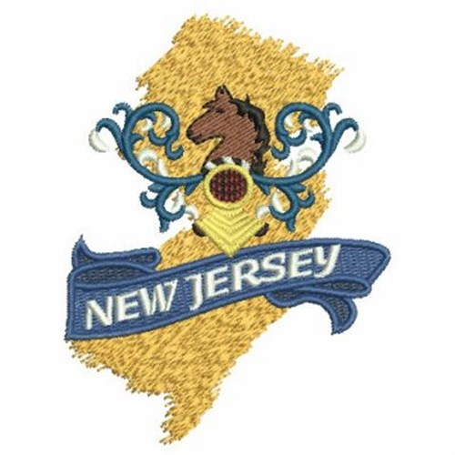 New jersey state map embroidery designs machine