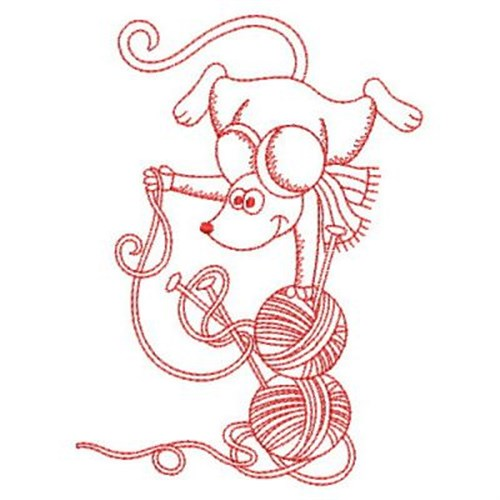 Redwork Sewing Mouse Embroidery Designs Machine Embroidery Designs
