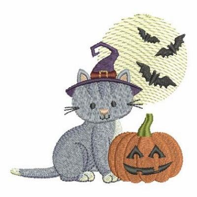 Halloween Cat Embroidery Designs Machine Embroidery Designs At