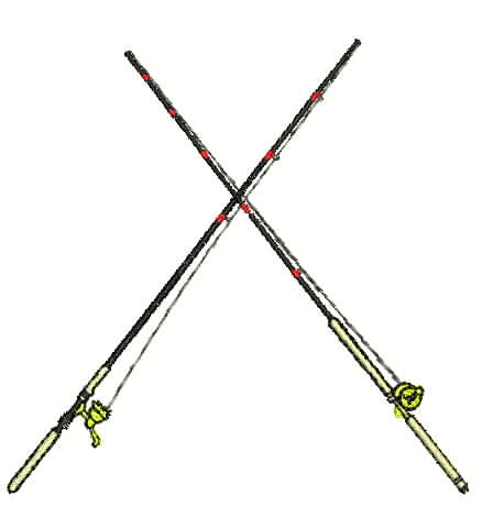 wicked stitch of the east embroidery design: small fishing rod 2, Fishing Reels