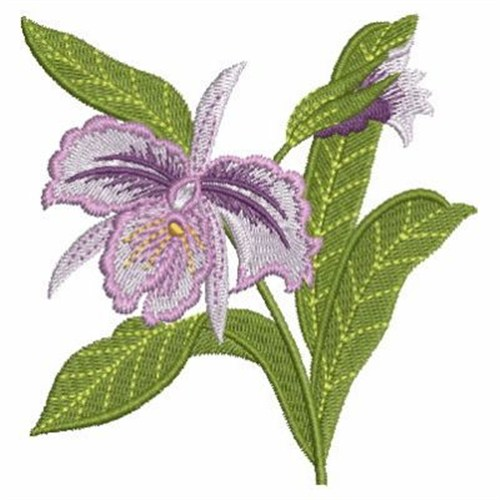 Elegant orchid embroidery designs machine