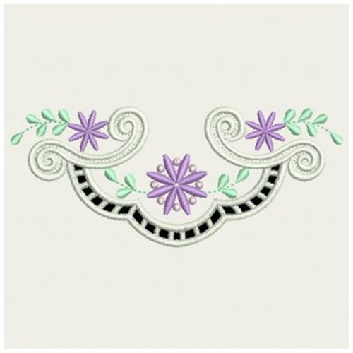 Flower cutwork embroidery designs machine