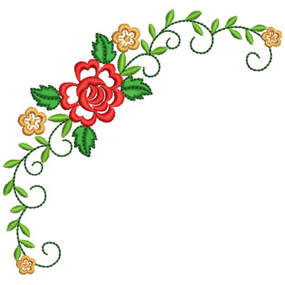 floral corner embroidery designs machine embroidery