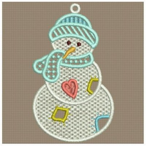 Free Standing Lace Snowman Embroidery Designs Machine Embroidery