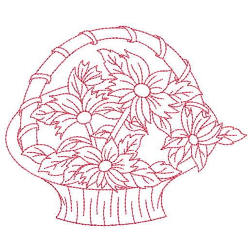 Free Flower Basket Embroidery Designs : Flower basket embroidery designs makaroka