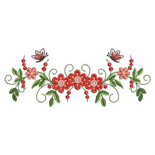 Floral quilt border embroidery designs machine