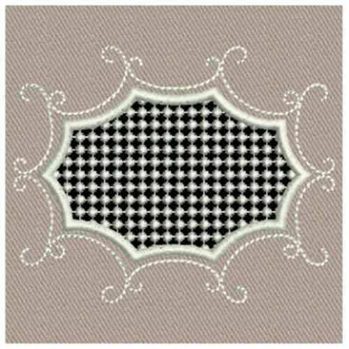 Geometric cutwork embroidery designs machine