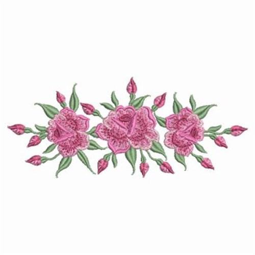 Bullion roses embroidery designs machine