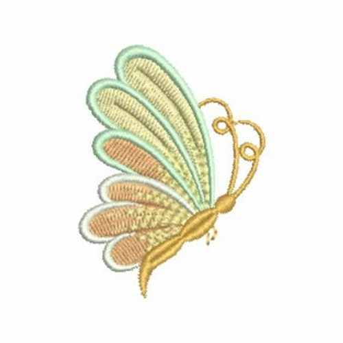 Artistic gold butterfly embroidery designs machine