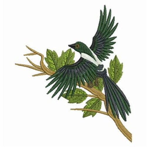 Magpie Flying Embroidery Designs Machine Embroidery