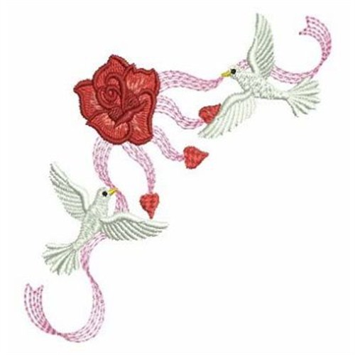 Ribbon doves embroidery designs machine