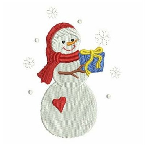 Gift snowman embroidery designs machine