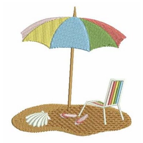 Beach umbrella embroidery designs machine