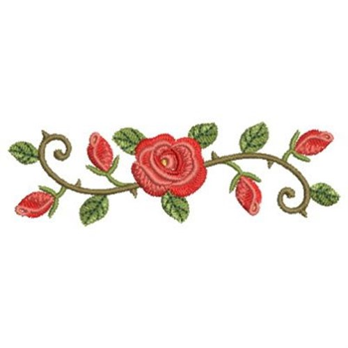 Rose border embroidery designs machine