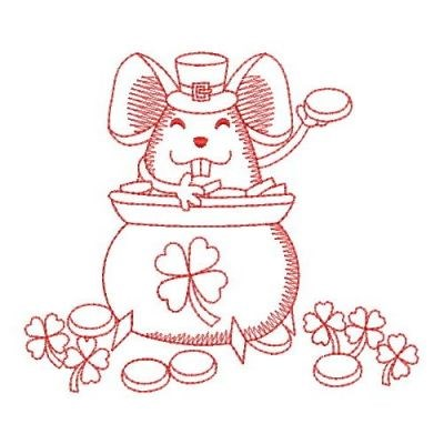 Redwork Irish Mouse Embroidery Designs Machine Embroidery Designs