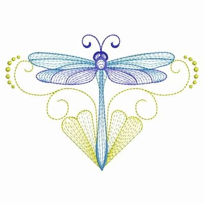 Rippled Dragonfly Embroidery Designs Machine Embroidery Designs At