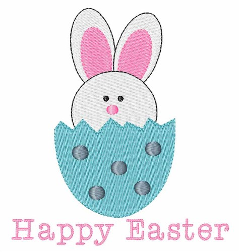 Windmill Designs Embroidery Design: Happy Easter 3.85 inches H x 3.55 ...