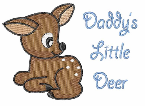 Daddys Little Deer Embroidery Designs Free Machine Embroidery