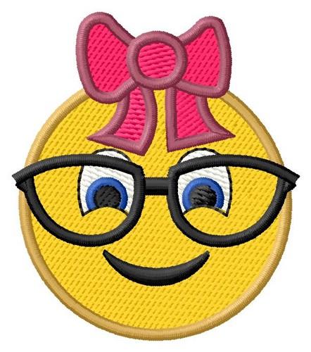 Glasses Girl Emoji Embroidery Designs Machine Embroidery Designs At EmbroideryDesigns.com