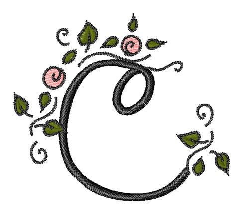 Rose Vine Swirl C Embroidery Designs Machine Embroidery Designs