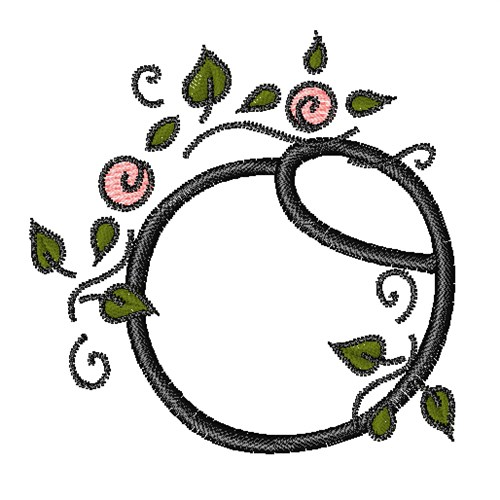 Rose Vine Swirl O Embroidery Designs Machine Embroidery Designs