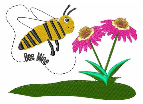 Busy bee mine embroidery designs machine