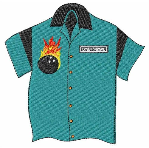 Bowling Shirt Embroidery Designs Machine Embroidery