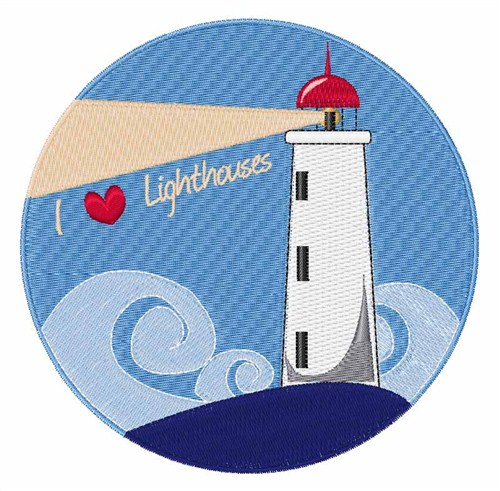 I love lighthouses embroidery designs machine