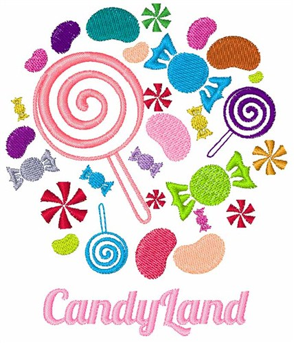 Machine Embroidery Design Candyland Gumball Machine