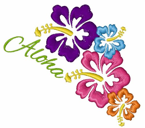 aloha flowers embroidery designs machine embroidery designs at
