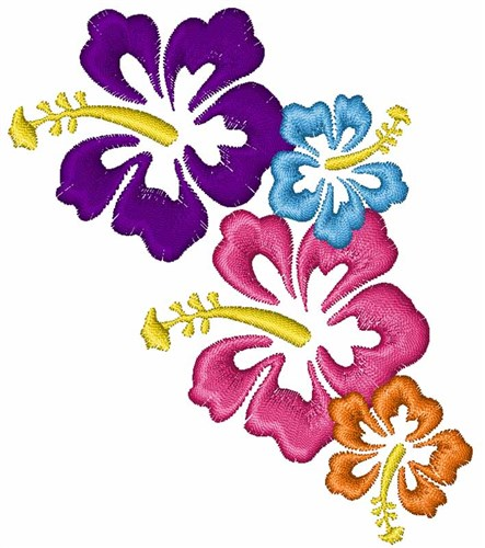 Hawaiian Flowers Embroidery Designs Machine Embroidery Designs At