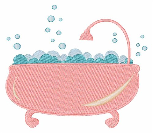 Bath tub embroidery designs machine embroidery designs at for Bathroom embroidery designs