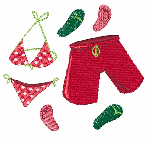 Bathing suits embroidery designs machine