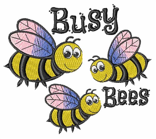 Busy bees embroidery designs machine