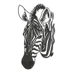 Zebra Head Outline Zebra Head Outline Emb...