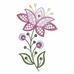 Pink Jacobean Flower Embroidery Designs Machine