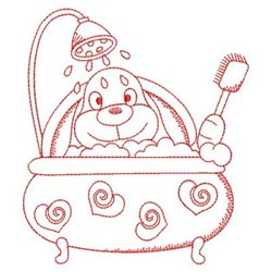 Bath time bunny embroidery designs machine embroidery for Bathroom embroidery designs